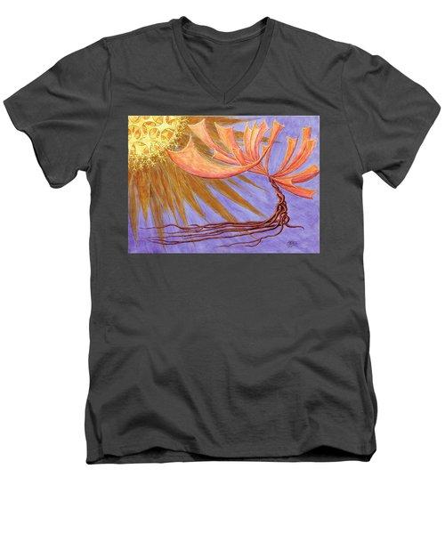 Sundancer Men's V-Neck T-Shirt by Charles Cater