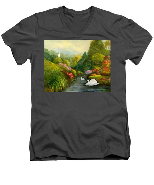 Sunday Afternoon Men's V-Neck T-Shirt by Gail Kirtz