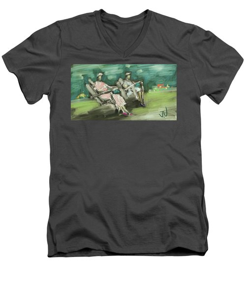 Sunday Afternoon Tea Men's V-Neck T-Shirt by Jim Vance