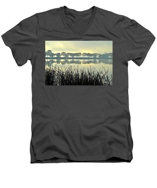Fog At Sunrise Men's V-Neck T-Shirt