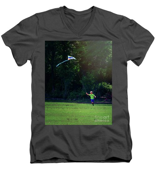 Sunday Funday At Honor Heights In Vertical Men's V-Neck T-Shirt