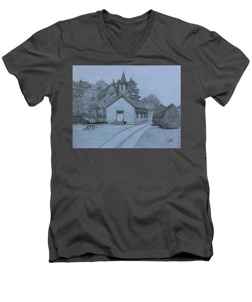 Sunday In Fairview  Men's V-Neck T-Shirt by Tony Clark