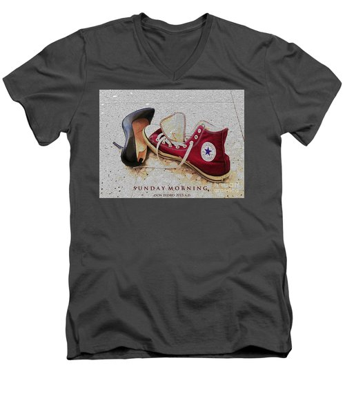 Sunday Morning Men's V-Neck T-Shirt by Don Pedro De Gracia