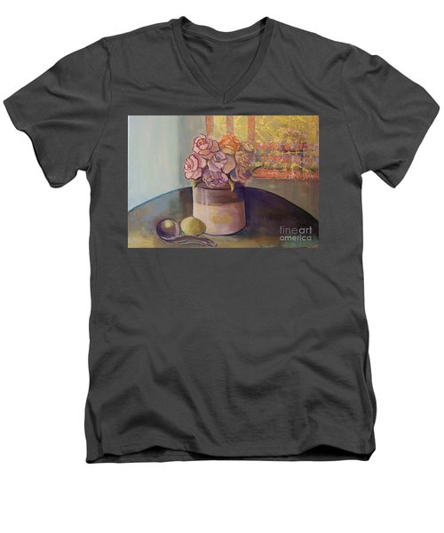Sunday Morning Roses Through The Looking Glass Men's V-Neck T-Shirt