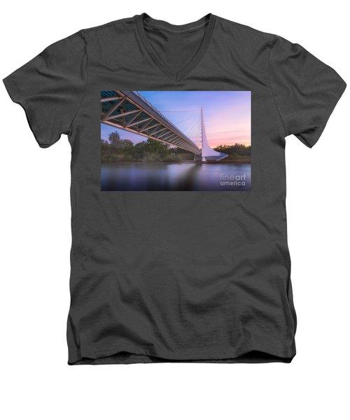Sundial Bridge 6 Men's V-Neck T-Shirt