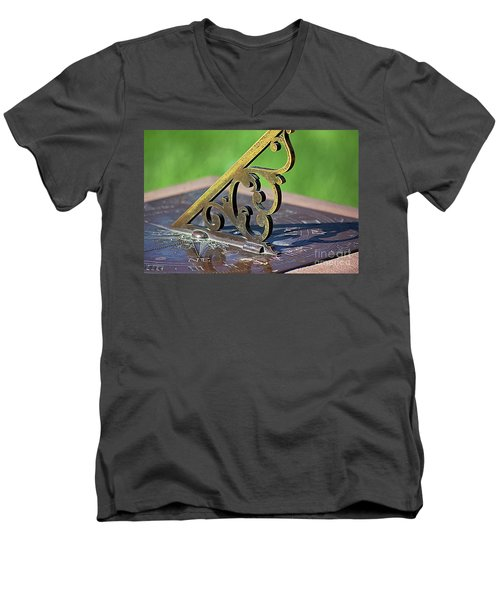 Sundial In The Garden Men's V-Neck T-Shirt