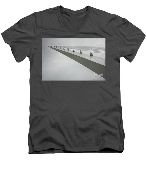 Sundial Perspective Men's V-Neck T-Shirt by Carol Lynn Coronios