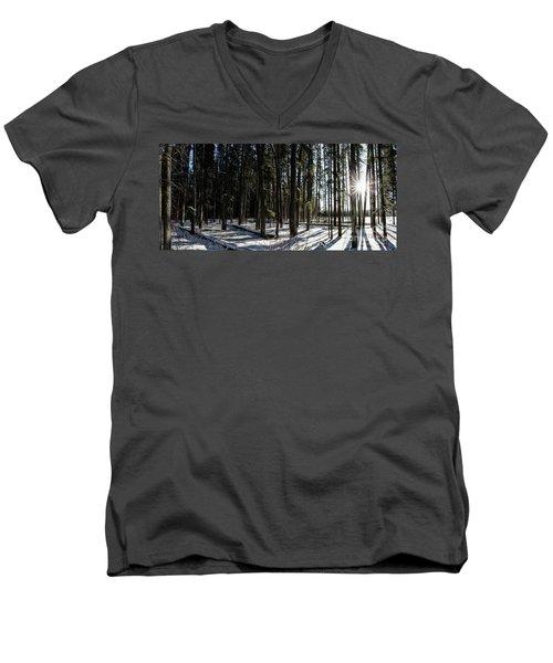 Sundial Forest Men's V-Neck T-Shirt by Brad Allen Fine Art