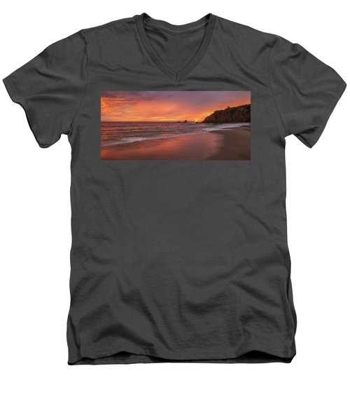 Sundown Over Crescent Beach Men's V-Neck T-Shirt
