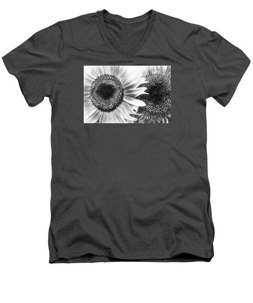 Sunflower 5 Men's V-Neck T-Shirt by Simone Ochrym