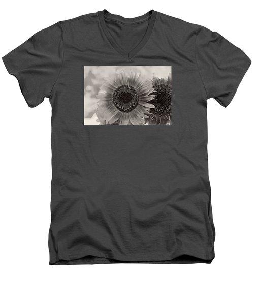 Sunflower 6 Men's V-Neck T-Shirt by Simone Ochrym