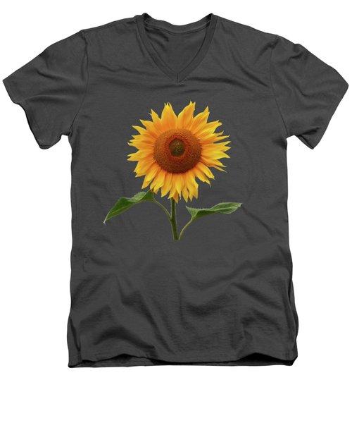 Sunflower And Red Sunset Men's V-Neck T-Shirt