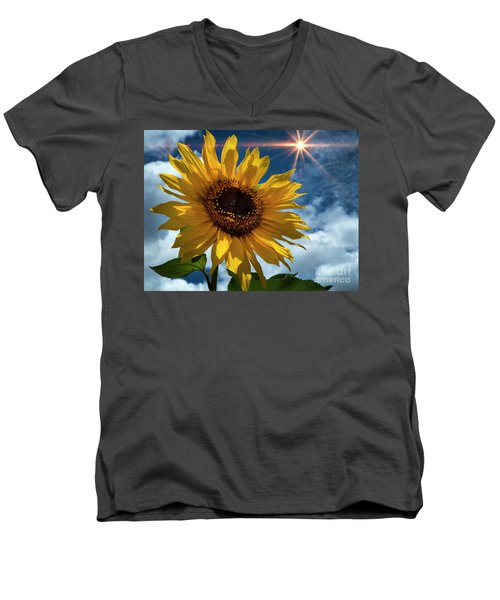 Sunflower Brilliance II Men's V-Neck T-Shirt