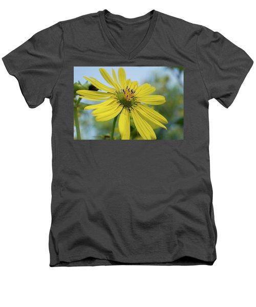 Sunflower Close-up Men's V-Neck T-Shirt