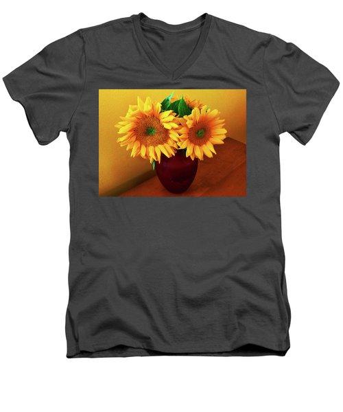 Sunflower Corner Men's V-Neck T-Shirt