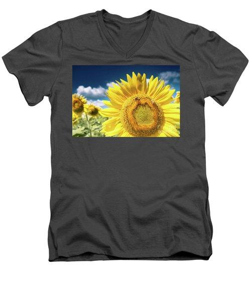 Sunflower Dreams Men's V-Neck T-Shirt