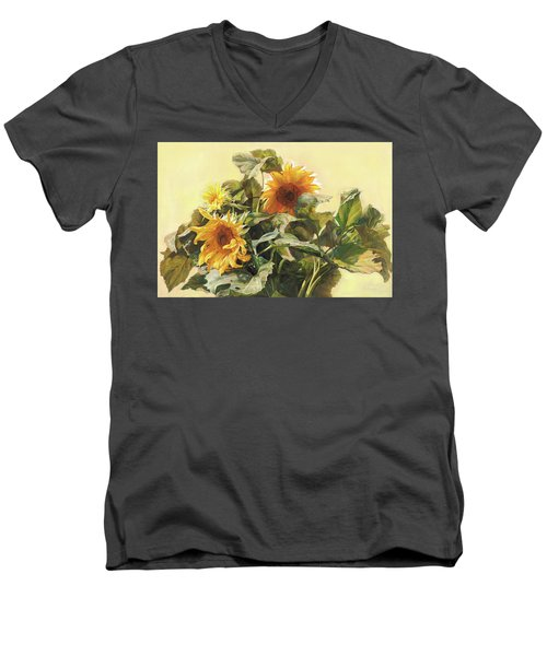 Sunflower In Love - Good Morning America Men's V-Neck T-Shirt