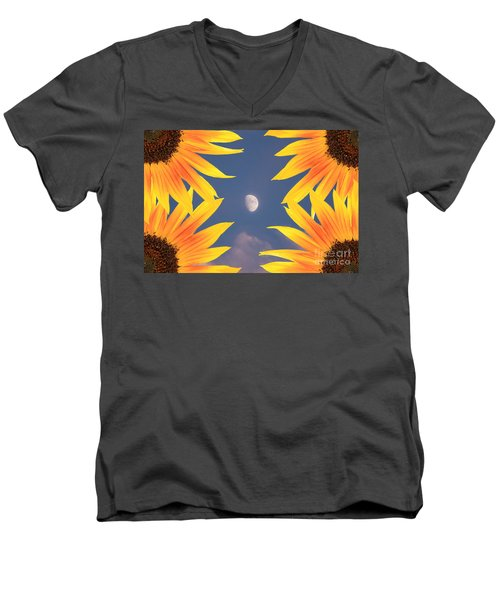 Sunflower Moon Men's V-Neck T-Shirt