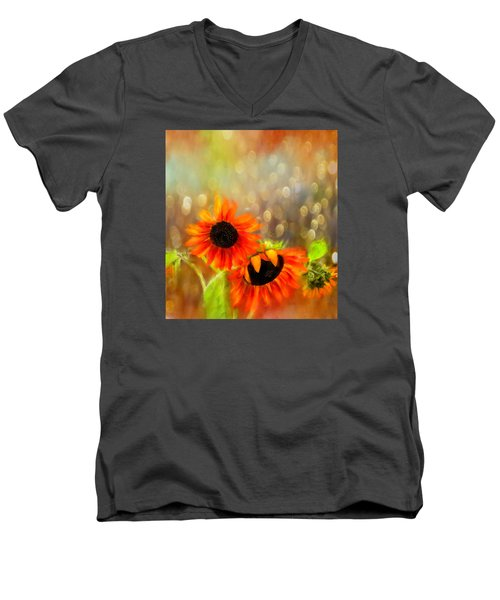 Sunflower Rain Men's V-Neck T-Shirt