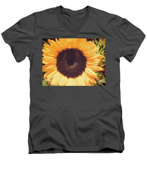 Sunflower Men's V-Neck T-Shirt by Scott and Dixie Wiley