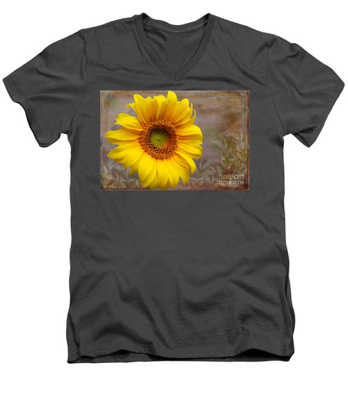 Sunflower Serenade Men's V-Neck T-Shirt