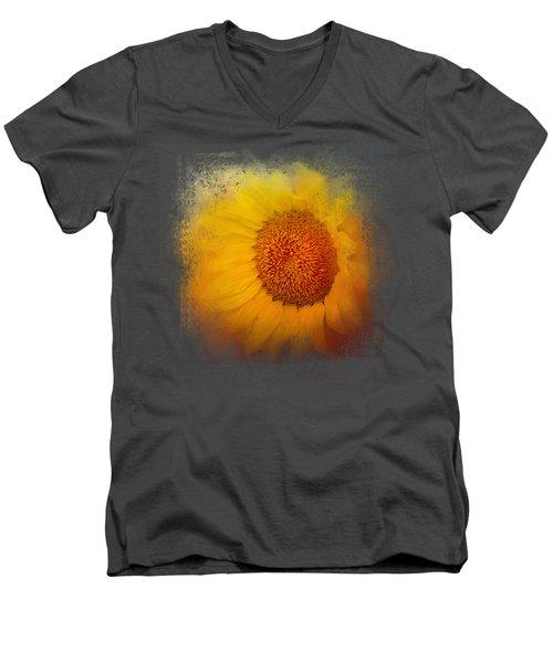 Sunflower Surprise Men's V-Neck T-Shirt by Jai Johnson