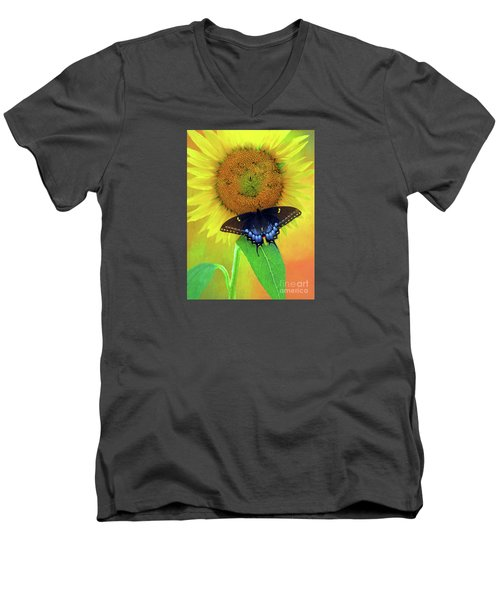 Sunflower With Company Men's V-Neck T-Shirt