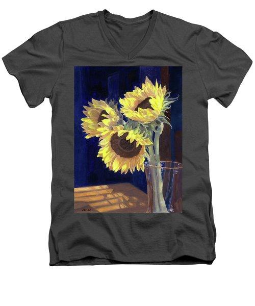 Sunflowers And Light Men's V-Neck T-Shirt