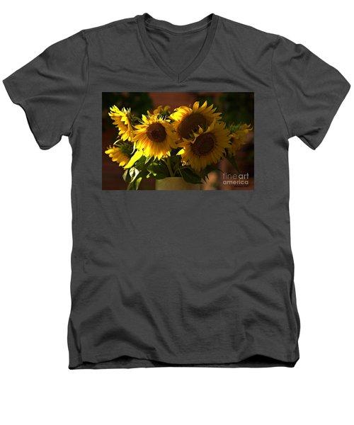 Sunflowers In A Vase Men's V-Neck T-Shirt