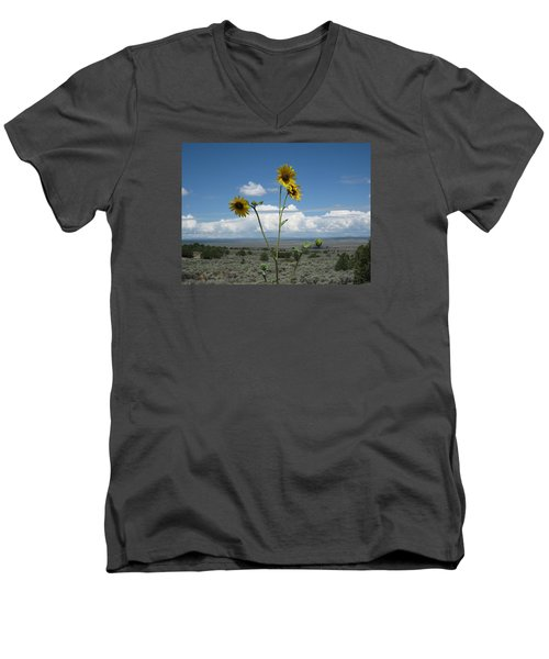 Sunflowers On The Gorge Men's V-Neck T-Shirt