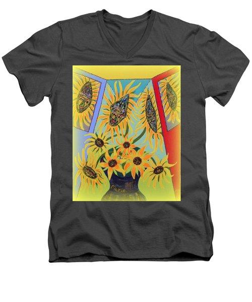 Sunflowers Rhapsody Men's V-Neck T-Shirt