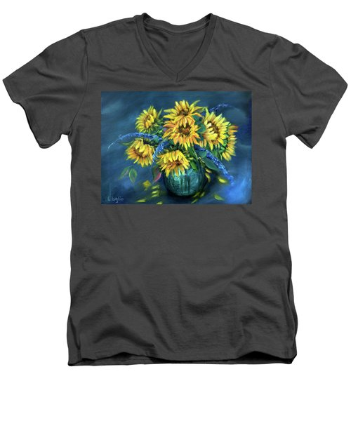 Sunflowers Still Life Men's V-Neck T-Shirt