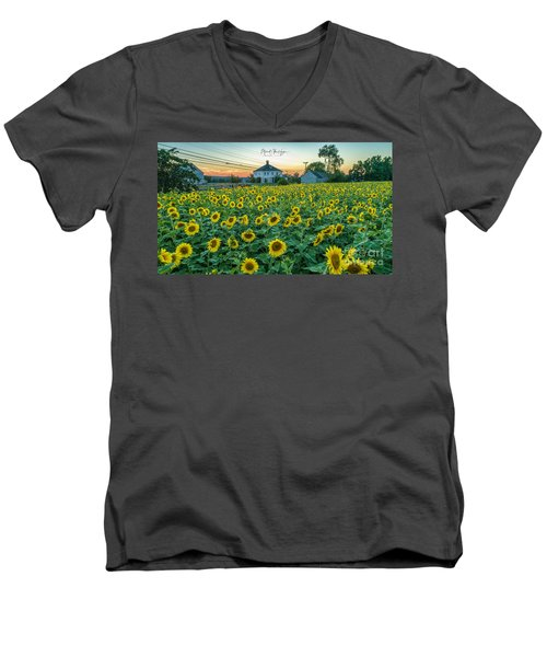 Sunflowers For Wishes  Men's V-Neck T-Shirt