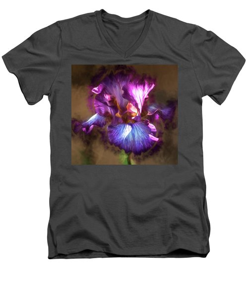 Sunlight Dancing On Iris Men's V-Neck T-Shirt