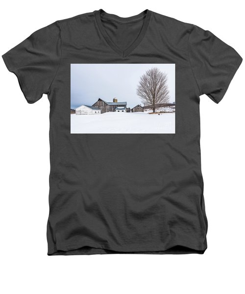 Sunlight On Abandoned Buildings Men's V-Neck T-Shirt