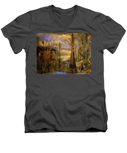 Sunlight On The Swamp Men's V-Neck T-Shirt