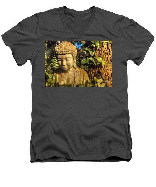 Sunlit Buddha 2015 Men's V-Neck T-Shirt