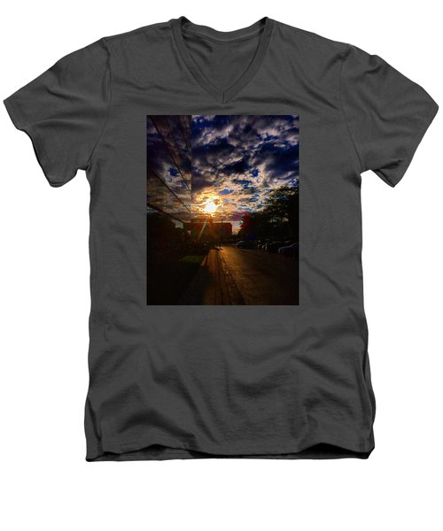 Sunlit Cloud Reflection Men's V-Neck T-Shirt