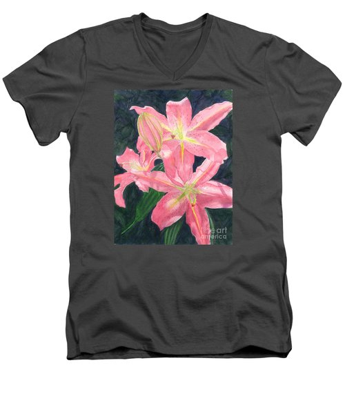 Sunlit Lilies Men's V-Neck T-Shirt