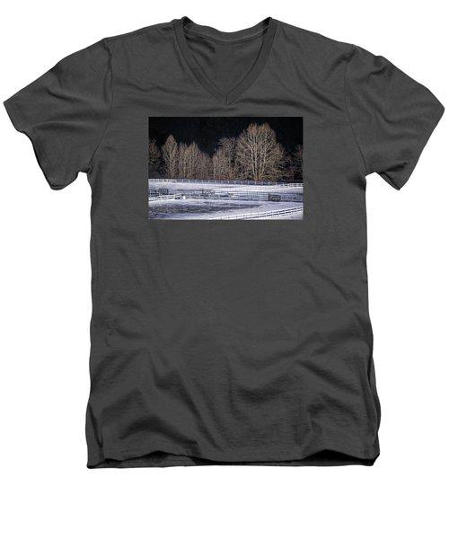 Sunlit Trees Men's V-Neck T-Shirt by Tom Singleton