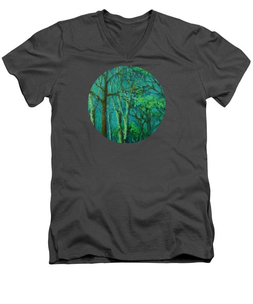 Sunlit Woodland Path Men's V-Neck T-Shirt