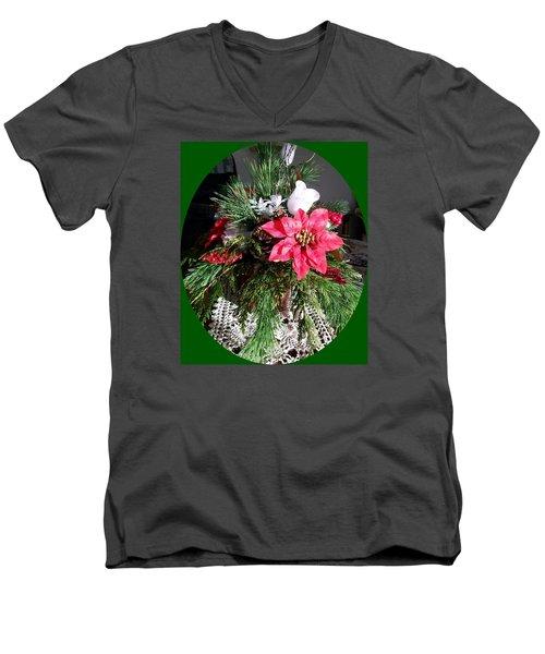 Men's V-Neck T-Shirt featuring the photograph Sunlit Centerpiece by Sharon Duguay