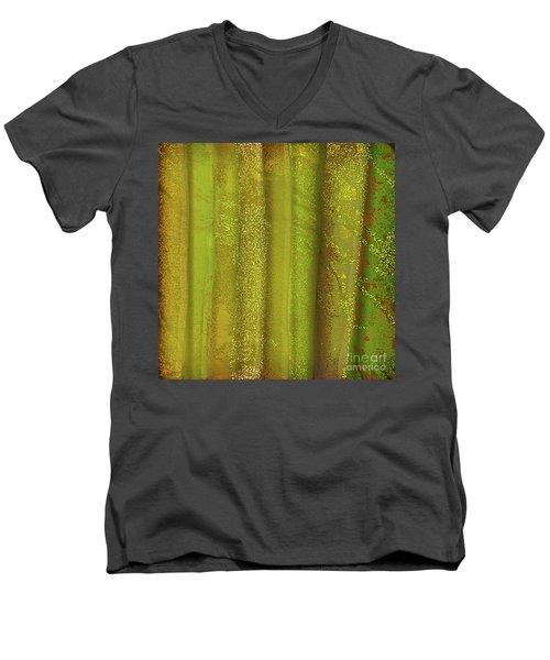 Sunlit Fall Forest Men's V-Neck T-Shirt