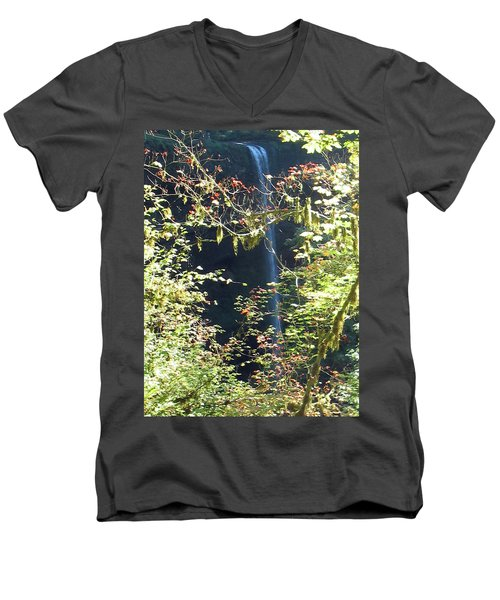 Sunlite Silver Falls Men's V-Neck T-Shirt