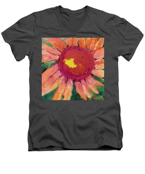 Sunny Flower Men's V-Neck T-Shirt