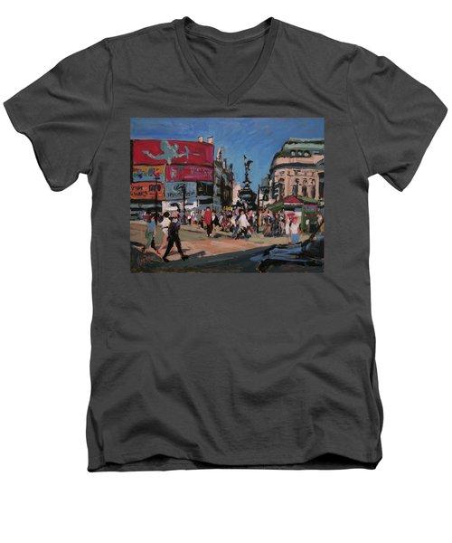 Sunny Piccadilly Men's V-Neck T-Shirt