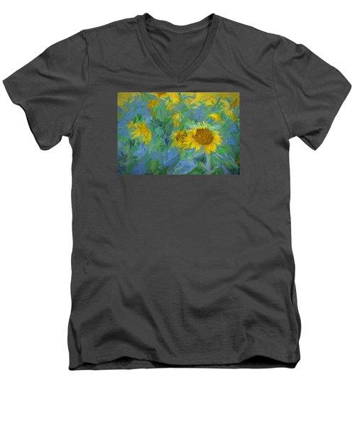 Sunny Sunflower Men's V-Neck T-Shirt