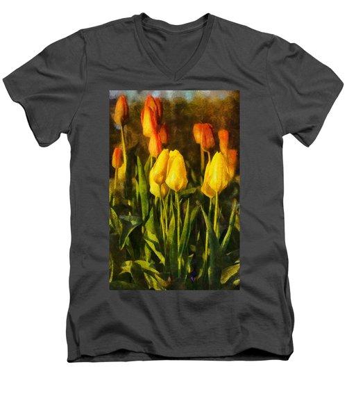 Sunny Tulips Men's V-Neck T-Shirt
