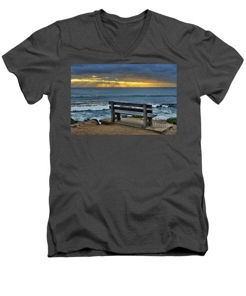 Sunrays On The Horizon Men's V-Neck T-Shirt