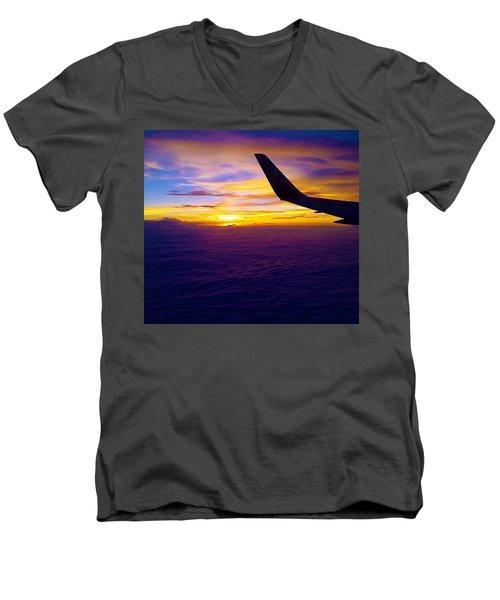 Sunrise Above The Clouds Men's V-Neck T-Shirt